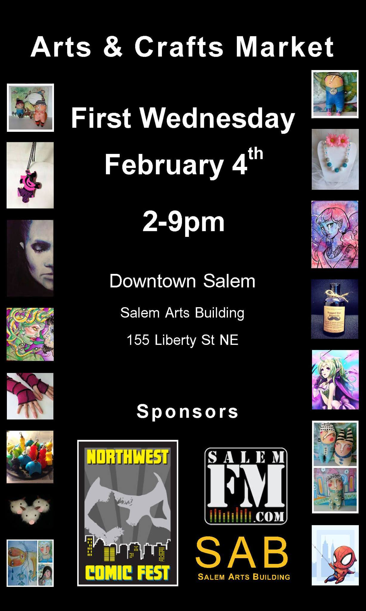 First Wednesday Artist/Vendor Event